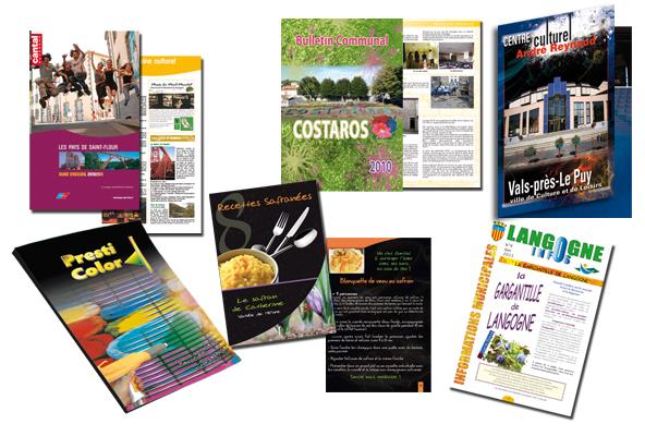 Chemise, dossier, plaquette, bulletin, brochure, livre…